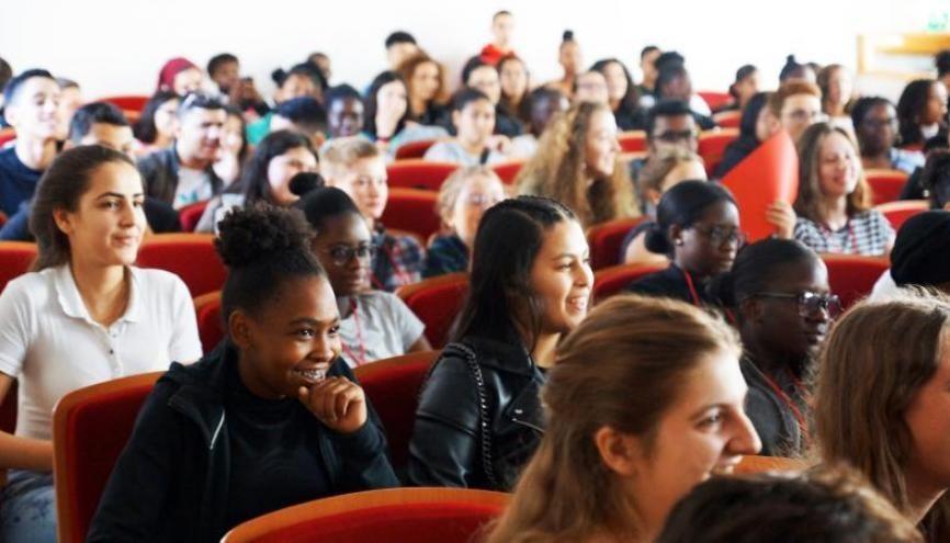 Le programme Talens a permis à 140 lycéens venus d'établissements classés en REP de s'immerger dans la mythique école nationale supérieure. //©Ecole Normale Supérieure