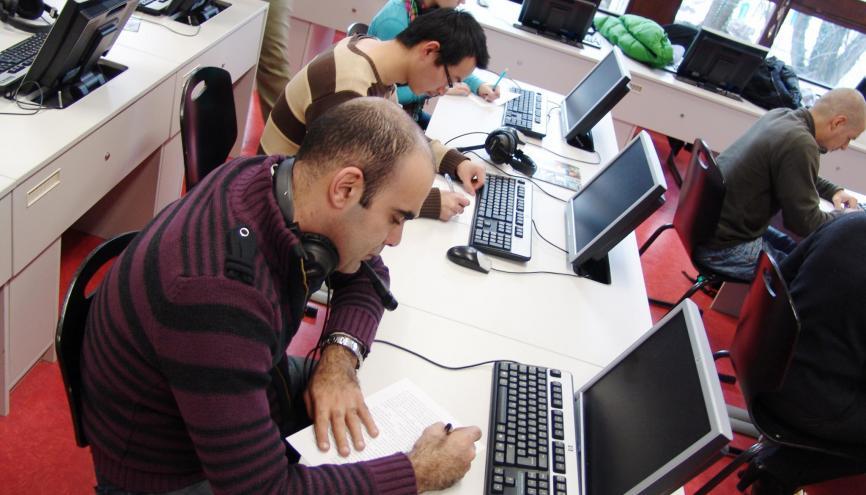 Étudiants en langues à l'université Stendhal-Grenoble 3. //©Bérangère Haëgy