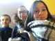 Jennah, Inès et Paul, en 4e, participent chaque vendredi au club d'orthographe du collège. //©Photo fournie par les témoins