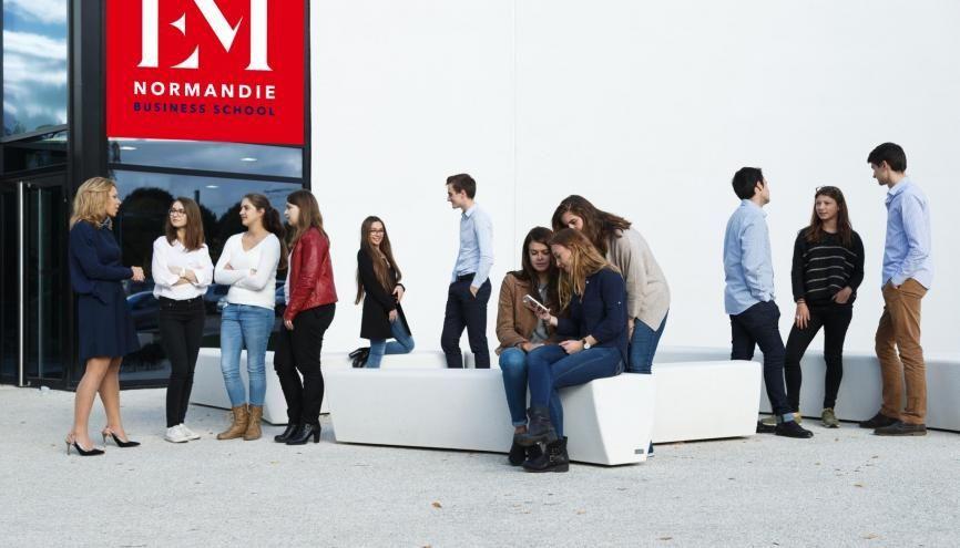 EM Normandie mise sur l'accompagnement de ses étudiants dès la première année. //©David Morganti / EM Normandie