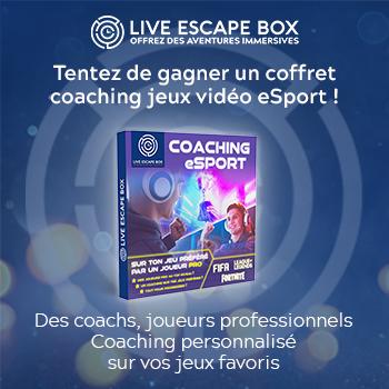 Tentez de gagner un coffret cadeau Live Escape Box coaching jeux vidéo eSport !