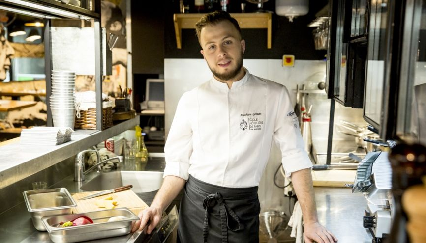 """Mathieu, chef de partie dans un restaurant : """"'Top Chef' donne l'impression que n'importe qui peut y arriver. Or, ce n'est  pas vrai."""" //©Florence Levillain pour L'Étudiant"""