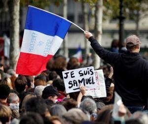 Des rassemblements ont eu lieu le 18 octobre pour rendre hommage à Samuel Paty.