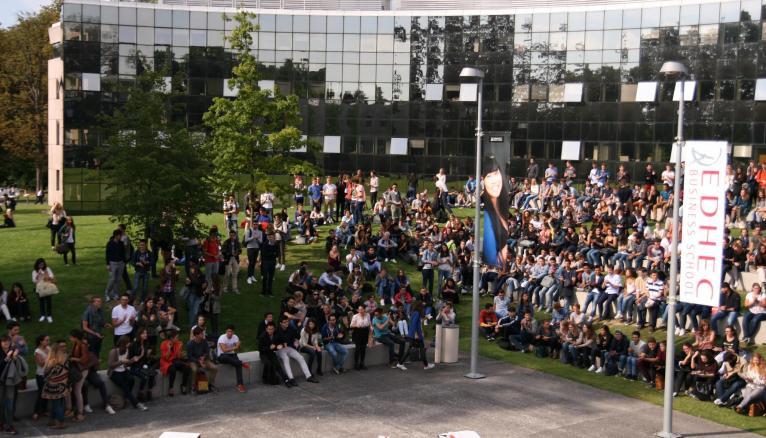 Le campus de l'Edhec à Lille.