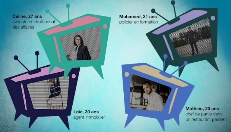 Céline, Loïc, Mathieu et Mohamed ont découvert leur vocation devant la télé.