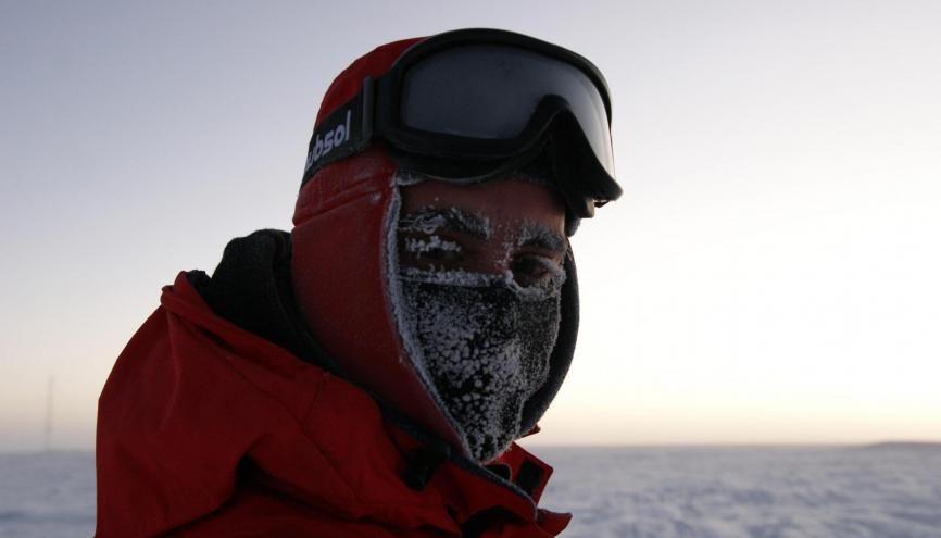 Cyprien Verseux, le héros polaire //©ESA/PNRA/IPEV