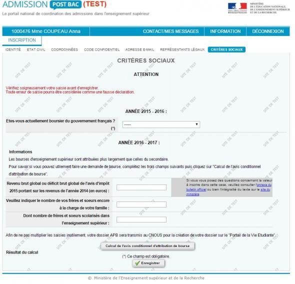 Demande de bourse ou de logement tudiant qui s - Office des oeuvres universitaires pour le centre bourse ...