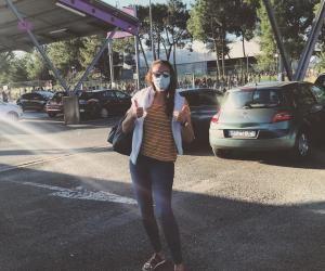 Louise a passé les concours du CRPE, masquée, à Bordeaux.