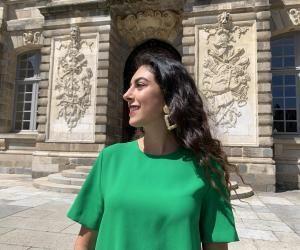 """Johanna apprécie l'atmosphère de Rennes,""""où les passants ont le sourire""""."""