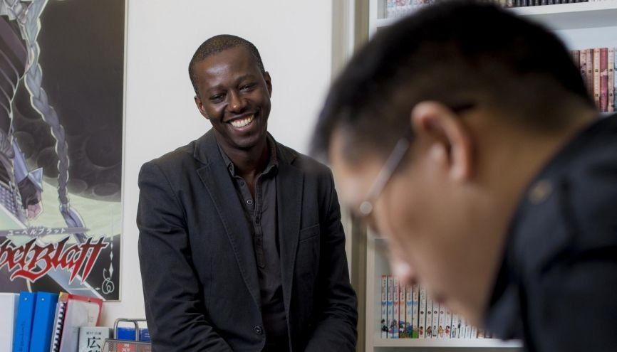 Ahmed Agne a créé Ki-oon, avec son associée Cécile Pournin, en 2003. Véritable success story, leur société est aujourd'hui le quatrième éditeur de mangas en France. //©Cyril Entzmann / Divergence pour l'Etudiant