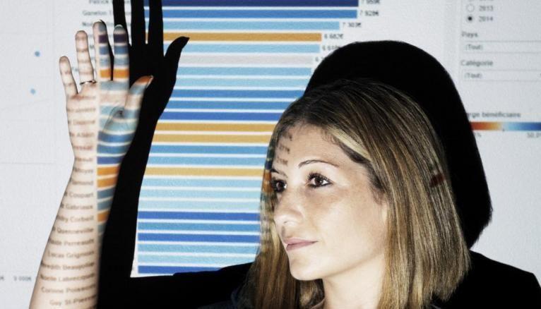 Le cœur du poste de Marylène: la data visualisation, c'est-à-dire les outils permettant de traduire les données de manière visuelle.