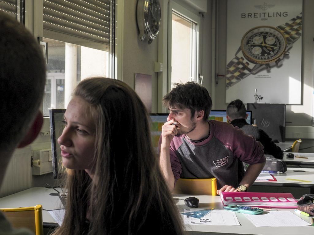 Les élèves suivent également des cours plus théoriques, comme celui de construction mécanique, avec ici Excel comme support. //©Raphaël Helle/Signatures pour l'Etudiant