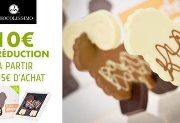 10€ de réduction sur toute la collection de Chocolat Chocolissimo à partir de 15€ d'achat