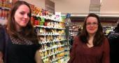 Les courses au supermarché d'Estelle et Amélie