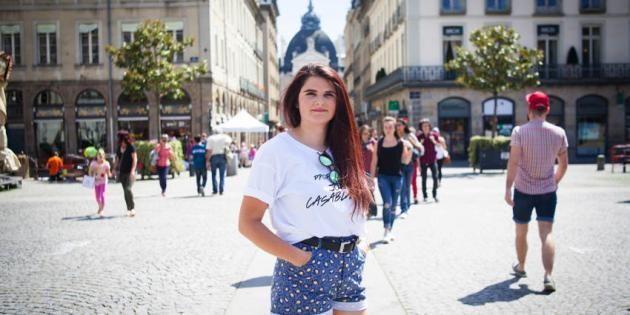 À 19 ans, Eugénie, en troisième année de LLCE, court les festivals le week-end. //©Cédric Martigny pour l'Etudiant
