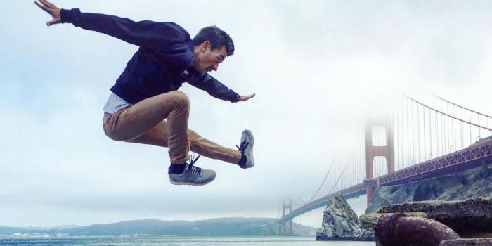 Jumper devant le Golden Gate Bridge, qui n'en rêverait pas ?