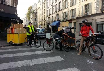 L'association Carton Plein organise des déménagements à vélo. //©Carton Plein