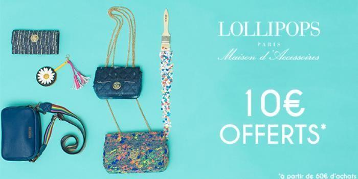 10€ de réduction sur toute la collection d'accessoires Lollipops à partir de 60€ d'achat