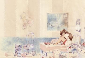 Une bande dessinée sur l'adolescence, dont le dessin adoucit le propos. //©Sarbacane