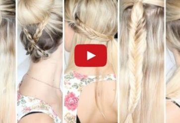 5 coiffures faciles à faire pour les cours //©