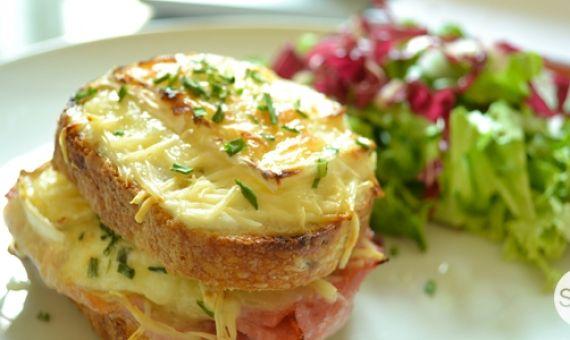 Kitchenette recette du croque monsieur au ch vre l 39 etudiant trendy - Recette croque monsieur au four original ...
