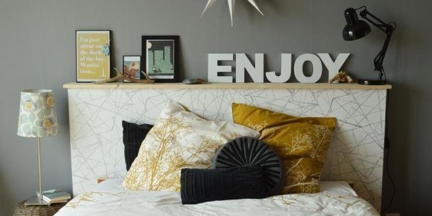 Pas besoin d'être un(e) as du bricolage pour fabriquer sa tête de lit personnalisée. //©Lily's little factory
