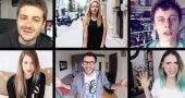 Adulés par des millions d'abonnés… De gauche à droite et de bas en haut : Mathieu Sommet, BeautéActive, Norman, EnjoyPhoenix, Cyprien et Natoo. //©captures d'écran YouTube