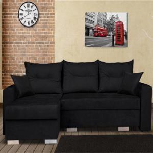 Gagnez votre canapé d'angle noir avec Livingo