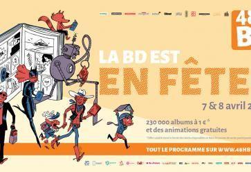 Au programme les 7 et 8 avril : battles de dessin, rencontres avec des auteurs et sélection d'albums à 1 €. //©48h BD