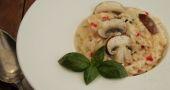 Une jolie présentation pour ce risotto aux champignons. //©LOU