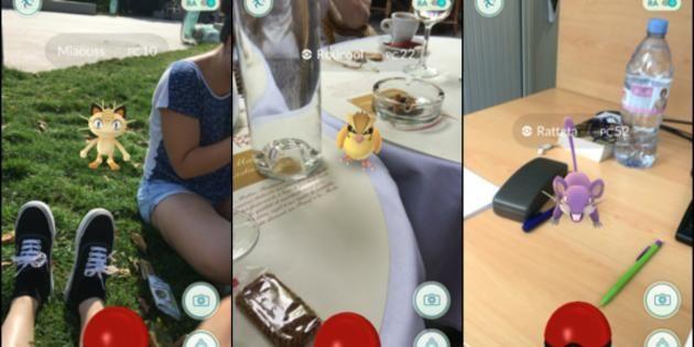 Screenshots de Pokémon GO //©Pokémon GO