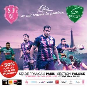Gagnez vos places pour le match Stade Français Paris vs Section Paloise le week-end du 15/16 avril !