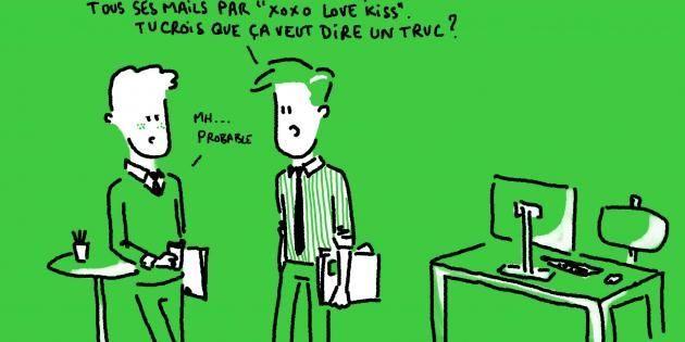 En cas de coup de foudre au travail, cessez de cogiter et agissez ! //©Pollux