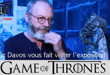 Visite guidée de l'expo Game of Thrones avec Liam Cunningham //©Stéphane Moret