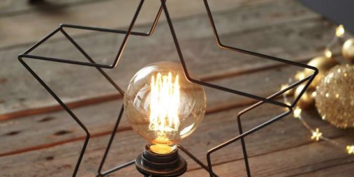 Style industriel pour des petites lampes à ampoule faible luminosité.