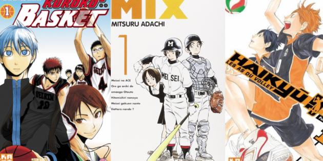 Base-ball, volley, basket: l'occasion de découvrir trois nouveaux sports collectifs en bande dessinée //©Kazé Manga