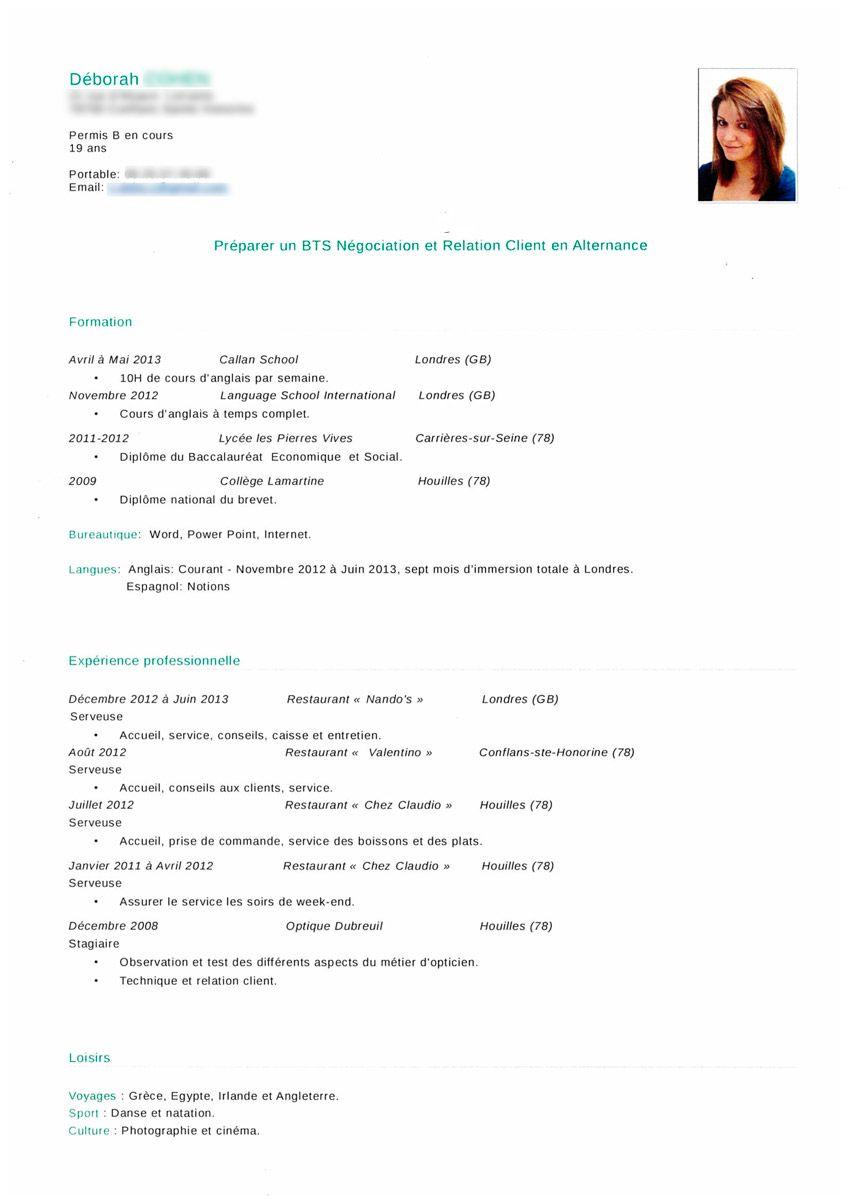 modele de cv pour apprentissage Contrat d'apprentissage : les conseils d'un recruteur pour réussir  modele de cv pour apprentissage