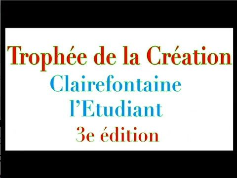 Trophee de la creation 2013
