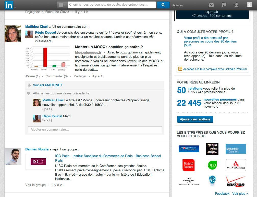 cv en ligne linkedin Web & High Tech : Viadeo ou LinkedIn : lequel privilégier pour  cv en ligne linkedin