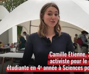 """""""Vis ma vie d'... activiste pour le climat"""" avec Camille Etienne, 22 ans, étudiante à Sciences po Paris"""