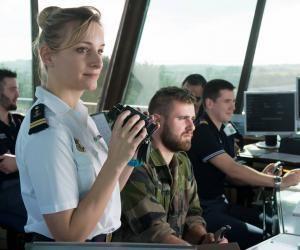 Aurélie, officier de la Marine, les pieds sur terre, les yeux en l'air