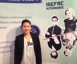 """Justine, en master manager communication à l'ISEFAC : """"L'alternance 1 jour en école - 4 jours en entreprise m'apporte une vraie expérience pro"""""""