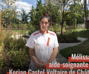 """Les métiers des """"premiers de corvée"""" : Mélissa, 20 ans, aide-soignante en Ehpad durant la vague de Covid-19"""
