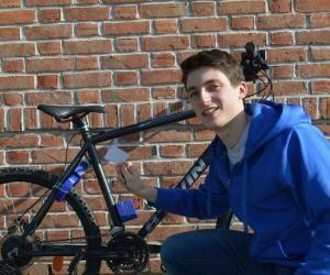 Cet élève ingénieur développe un antivol de vélo sans contact