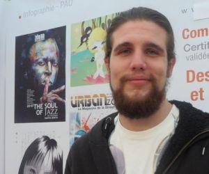 """Christopher, étudiant en arts graphiques à Caen : """"J'ai 25 heures de cours par semaine mais le double de travail personnel"""""""