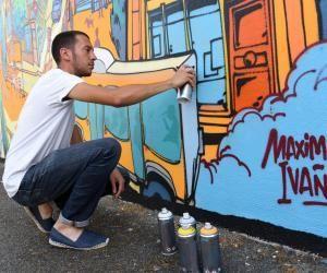 """Maxime, 28 ans: """"Comment je suis devenu peintre muraliste"""""""