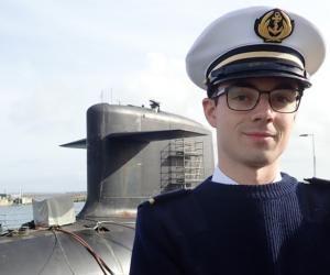 Arnaud, étudiant ingénieur, en année de césure sur un sous-marin nucléaire