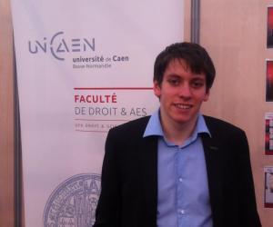 """Vincent, étudiant en master 2 de droit notarial : """"À Caen, la vie étudiante est riche"""""""