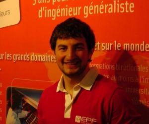 """Mickaël, élève ingénieur à l'EPF : """"Les entreprises courtisent beaucoup les étudiants"""""""