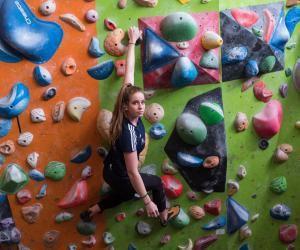 Elma Fleuret, championne d'escalade et aspirante kiné